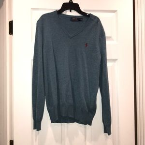 Men's polo v neck sweater. Good used condition